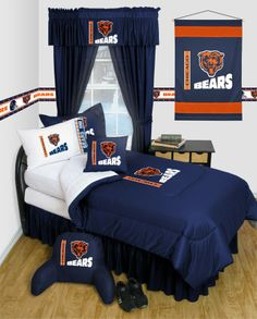 Chicago Bears Comforter/Sheets Deluxe Bed Room Set