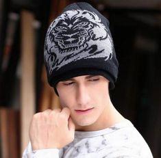 ce5b47ea610 Fashion lion knit hat for men hip hop style winter beanie hats