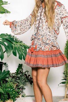 Elle Mini Skirt in Rosewood