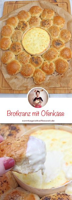 Brotkranz mit Ofenkäse ein tolles Dip-Rezept Bread wreath with baked cheese is a great dip recipe. This delicious bread wreath can be prepared wonderfully, and you only have to put it in the oven 20 m Summer Dessert Recipes, Desserts For A Crowd, Apple Desserts, Desserts Homemade, Dip Recipes, Muffin Recipes, Baking Recipes, Bread Recipes, Grilling Recipes