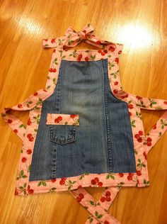 Cute Child Denim Apron by ByBrookeCreations on Etsy, $15.00