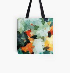 Large Bags, Small Bags, Cotton Tote Bags, Reusable Tote Bags, Distressed Texture, Medium Bags, Teal Blue, Original Artwork, Art Prints