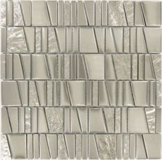 Mirror Unique Shapes Silver Glossy Glass Tile