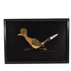 1960s Mid Century Vintage Couroc Roadrunner Tray available at The Hour and TheHourShop.com