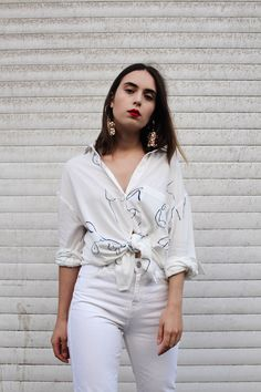 This Is Not An Ordinary White Shirt - Paloma Wool Leandra Shirt
