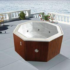 """Spa """"Bora Bora"""" - système Balboa + station d'Iphone intégré - 4/6 places - 208 x 208 x 100 cm"""