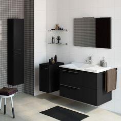 50 Fotos de móveis para casa de banho pequena ~ Decoração e Ideias Bad Inspiration, Bathroom Inspiration, Bathroom Ideas, Bedroom False Ceiling Design, Leroy Merlin, Nordic Design, Double Vanity, Basin, Home Remodeling