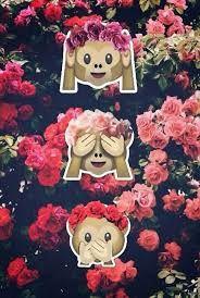 """Résultat de recherche d'images pour """"emoji singe fond d'écran"""""""