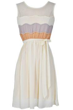 Precious Pearls Dress in Cream
