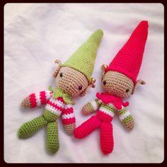 Amigurumi crochet christmas elves