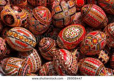 Orthodox Easter 'pysanki' eggs. From 'The Royal Calendar': April 15, 2012