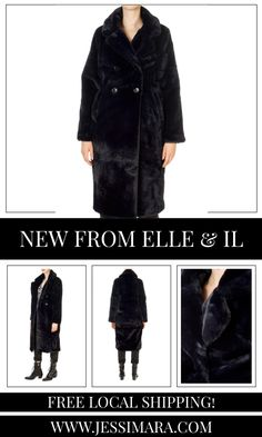 This is the 'Trini' Navy Faux Fur Long Coat by stunning brand, Elle & Il. This gorgeous piece features a lovely collar, a central button fastening, and side pockets. This is the perfect piece to carry you into the colder season! Long Faux Fur Coat, Shop Now, Pockets, Button, Navy, Clothing, Shopping, Collection, Fashion