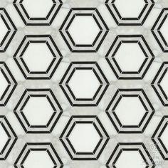 "Girls bathroom floor  Geometric ""Pembroke"" tiles by New Ravenna Mosaics"