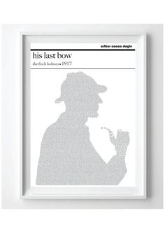 Text Art Poster Sherlock Holmes His Last Bow by by PoppyLanePrints