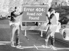 Error 404 - Road Not Found