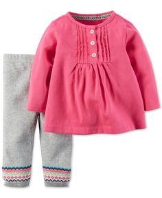 Carter's Baby Girls' 2-Piece Top and Pants set