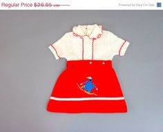 HALF OFF SALE Vintage Baby Clothes Cookie Monster Dress Sweater Dress. $13.48, via Etsy.