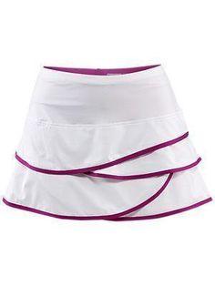 Purple Edge white Tennis Skirt by Adidas | Tennis Dresses | Tennis Skirts | Tennis Ladies Apparel @ www.FitnessGirlApparel.com