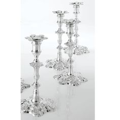 A Set of Four George II Silver table Candlesticks, John Cafe, London, 1755
