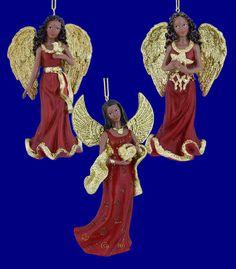 Kurt Adler glitter wing angels