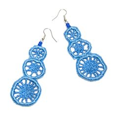 Fair Trade Blue Fabric Earrings