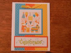 Colorful Stampin' Up! Birthday Card