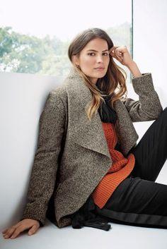 Koop Grijze tweed watervaljas vandaag online bij Next: Nederland