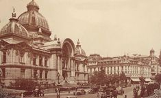 """Bucharest photos from the first decades of the century - mostly from the interwar period (between the two World Wars). ♦ The end of """"Little Paris"""" (click photo) ♦ Interwar Period, Little Paris, Bucharest Romania, Old City, World War Two, Old Pictures, Taj Mahal, City Photo, Louvre"""
