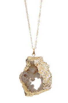 Uncut Geode Necklace by Bansri on @HauteLook
