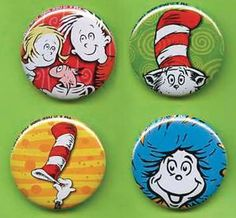 Dr. Seuss Pins...Yes, I have a collection of these.