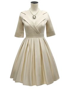 D'Amour Collar Dress (Beige)