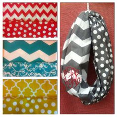 Chevron/polka dot infinity scarf reversible by NeeNaysBoutique, $24.00...want