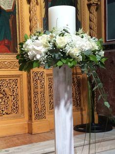 Στολισμοί Γάμου & Βάπτισης Vase, Candles, Home Decor, Decoration Home, Room Decor, Jars, Vases, Pillar Candles, Lights