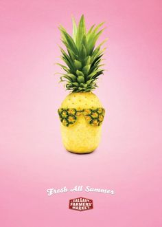 The Print Ad titled Pineapple was done by Wax advertising agency for Calgary Farmers Market in Canada. It was released in Jul 2010.