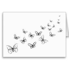 Schmetterlinge, die über die Seite tanzen Grußkarte