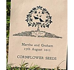 Our Love Grows personalised Wedding Favour £1.85