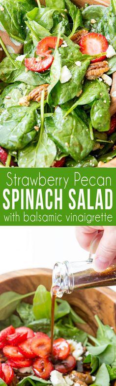 Strawberry Pecan Spinach Salad