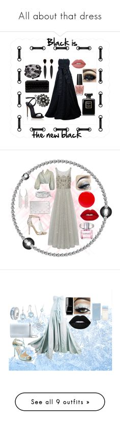 """""""All about that dress"""" by jomax ❤ liked on Polyvore featuring Dolce&Gabbana, Giuseppe Zanotti, Chanel, 1928, Lime Crime, OPI, black, blackdress, Notte by Marchesa and Jimmy Choo"""