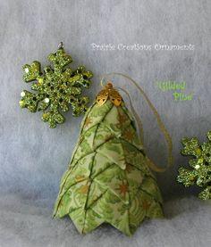 acolchado de tela patrn de rbol de navidad y kit dorados