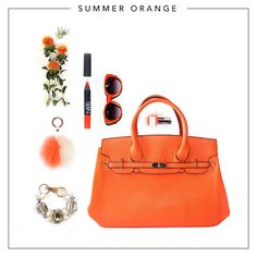 Summer Orange - Choose your favourite colourful bag & the best shade of orange accessories to match!