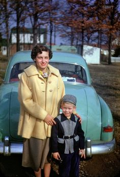 A mother and her young son, autumn 1952. Like nearly every other child in the 50's, 60's, and 70's, I was blessed with a full-time mom and we went everywhere together. What a grand life !