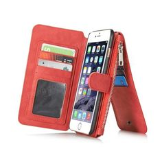Vintage Leather Multi Function Wallet Card Pocket Zipper Flip Case Cover For Apple iPhone 6 Plus 6s Plus 5.5 Sale - Banggood.com