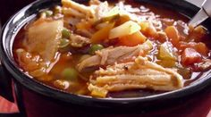 Spicy Turkey & Chipotle Pepper Soup