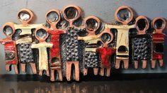 Online veilinghuis Catawiki: Perignem Vandeweghe - wand plaquette - keramisch kunstwerk