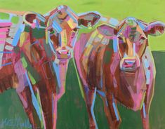 Cow Painting by Kate Mullin Williford. Cow Painting, Texture Painting, Watercolor Paintings, Acrylic Painting Inspiration, Cow Art, Colorful Animals, Abstract Animals, Learn To Paint, Paintings For Sale