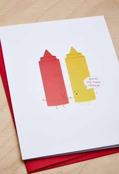 Queenies Cards Ketchup and Mustard Card | Forever 21 | #f21branded