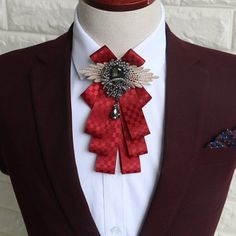 Fashion Mens Vintage Wedding Groomsmen Bow Flower Collar England Men's Business Suits Bowknots Tie at Banggood