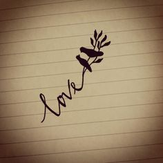 I like the idea of a word going into a branch with a robin on it but not love or sisters or anything cheesy like that
