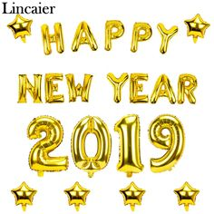 2019 Happy New Year Gold Foil Balloons Eve Party Merry Christmas Decorations New Year Pictures, Happy New Year Images, Happy New Year Quotes, Quotes About New Year, Happy Birthday Balloons, Happy Birthday Messages, Happy Birthday Images, Happy New Years Eve, Happy New Year 2019
