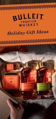 If you need holiday gift ideas, then look no further than Bulleit whiskey. Send your friend home with a bottle of Bulleit Bourbon, Bulleit Rye, or a mini bottle with a carry-on cocktail kit. Whether friends or family, this is the perfect gift for any whiskey lover in your life.